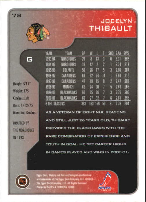 2001-02-Upper-Deck-Victory-Hk-Cards-1-250-A5960-You-Pick-10-FREE-SHIP miniature 149