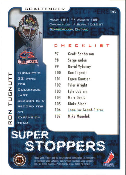 2001-02-Upper-Deck-Victory-Hk-Cards-1-250-A5960-You-Pick-10-FREE-SHIP miniature 181