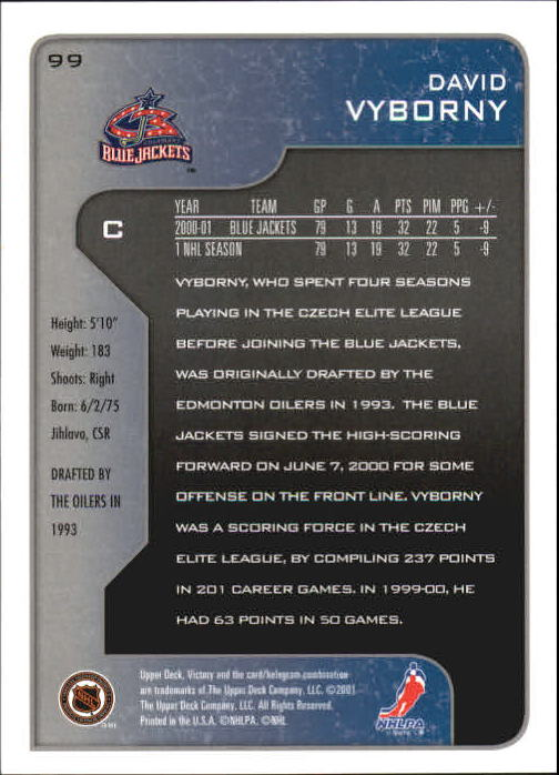 2001-02-Upper-Deck-Victory-Hk-Cards-1-250-A5960-You-Pick-10-FREE-SHIP miniature 187
