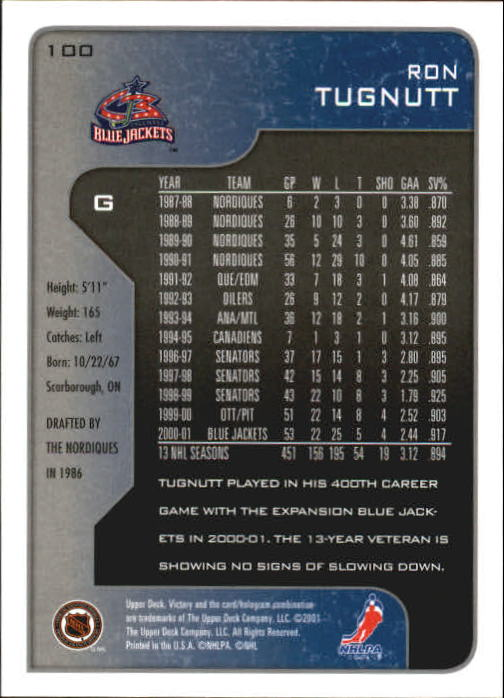 2001-02-Upper-Deck-Victory-Hk-Cards-1-250-A5960-You-Pick-10-FREE-SHIP miniature 189