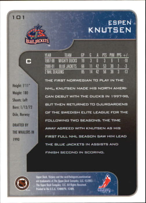 2001-02-Upper-Deck-Victory-Hk-Cards-1-250-A5960-You-Pick-10-FREE-SHIP miniature 191