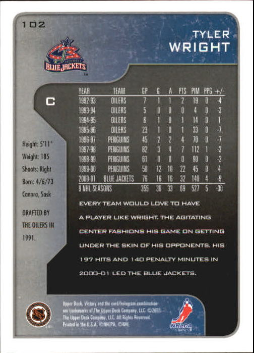 2001-02-Upper-Deck-Victory-Hk-Cards-1-250-A5960-You-Pick-10-FREE-SHIP miniature 193