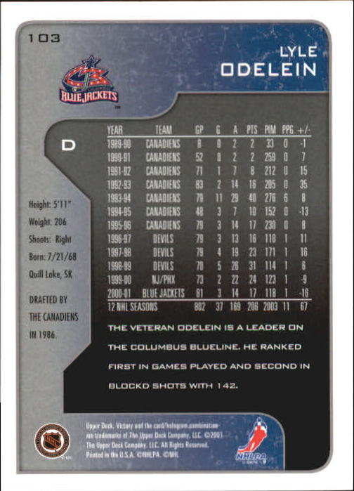 2001-02-Upper-Deck-Victory-Hk-Cards-1-250-A5960-You-Pick-10-FREE-SHIP miniature 195