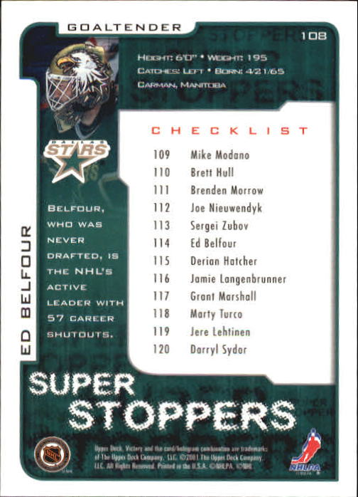 2001-02-Upper-Deck-Victory-Hk-Cards-1-250-A5960-You-Pick-10-FREE-SHIP miniature 205