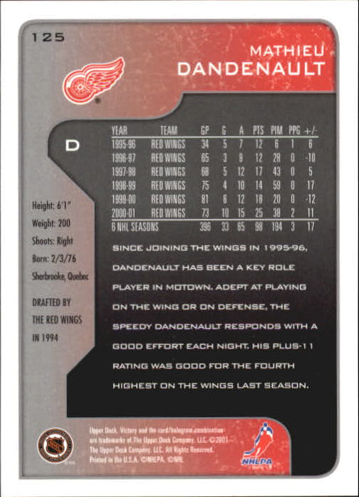 2001-02-Upper-Deck-Victory-Hk-Cards-1-250-A5960-You-Pick-10-FREE-SHIP miniature 237