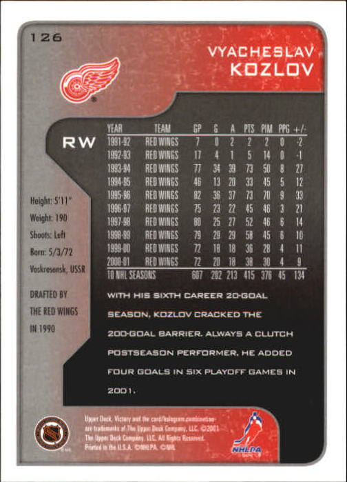 2001-02-Upper-Deck-Victory-Hk-Cards-1-250-A5960-You-Pick-10-FREE-SHIP miniature 239