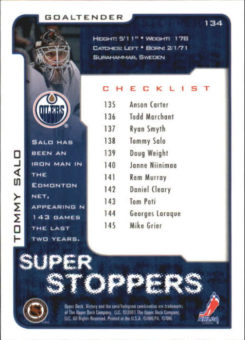 2001-02-Upper-Deck-Victory-Hk-Cards-1-250-A5960-You-Pick-10-FREE-SHIP miniature 255