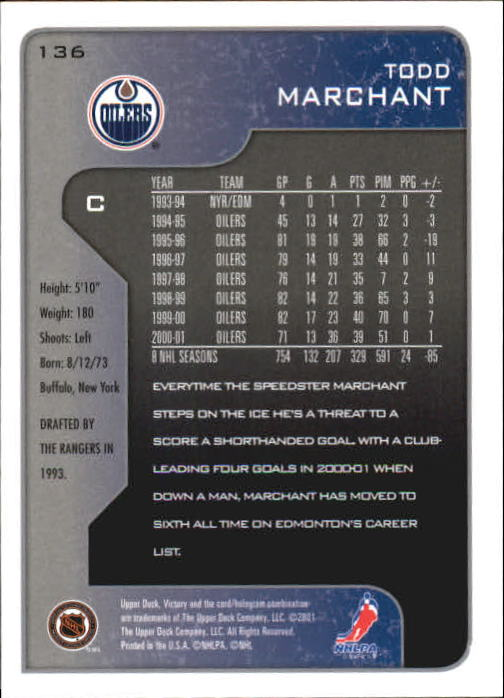 2001-02-Upper-Deck-Victory-Hk-Cards-1-250-A5960-You-Pick-10-FREE-SHIP miniature 259