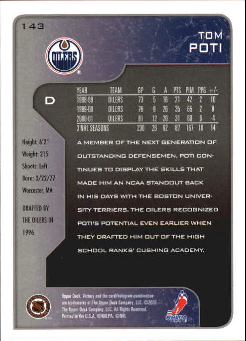 2001-02-Upper-Deck-Victory-Hk-Cards-1-250-A5960-You-Pick-10-FREE-SHIP miniature 273