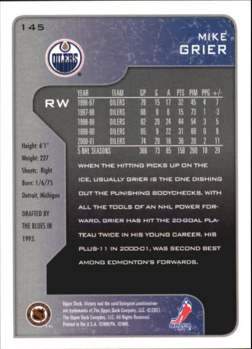 2001-02-Upper-Deck-Victory-Hk-Cards-1-250-A5960-You-Pick-10-FREE-SHIP miniature 277