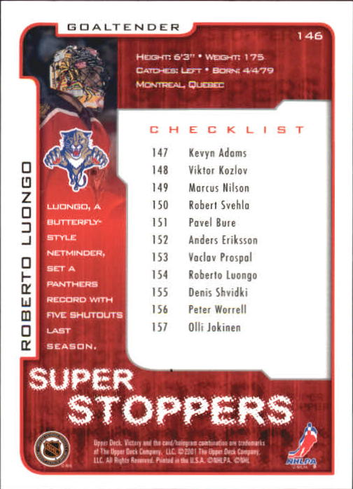 2001-02-Upper-Deck-Victory-Hk-Cards-1-250-A5960-You-Pick-10-FREE-SHIP miniature 279