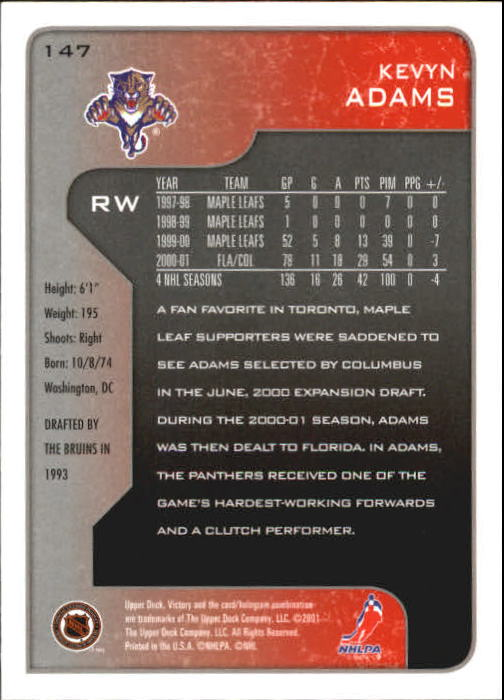 2001-02-Upper-Deck-Victory-Hk-Cards-1-250-A5960-You-Pick-10-FREE-SHIP miniature 281