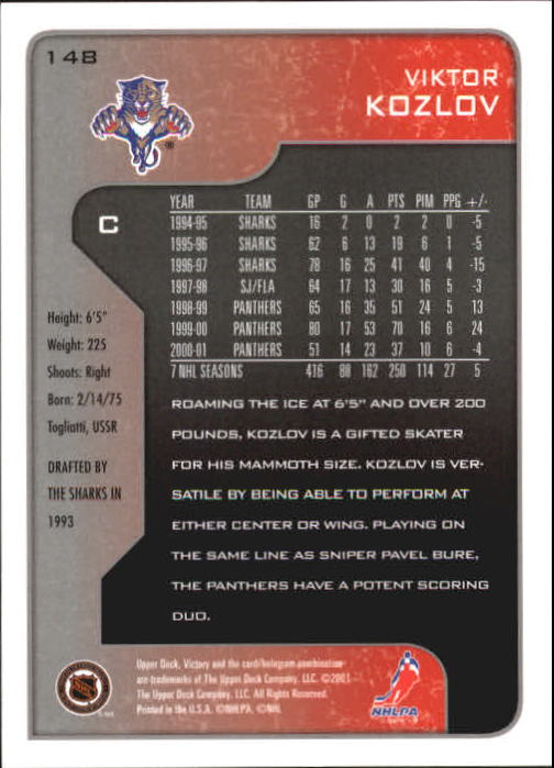 2001-02-Upper-Deck-Victory-Hk-Cards-1-250-A5960-You-Pick-10-FREE-SHIP miniature 283