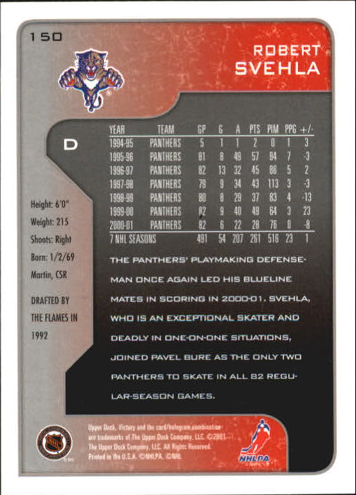 2001-02-Upper-Deck-Victory-Hk-Cards-1-250-A5960-You-Pick-10-FREE-SHIP miniature 287