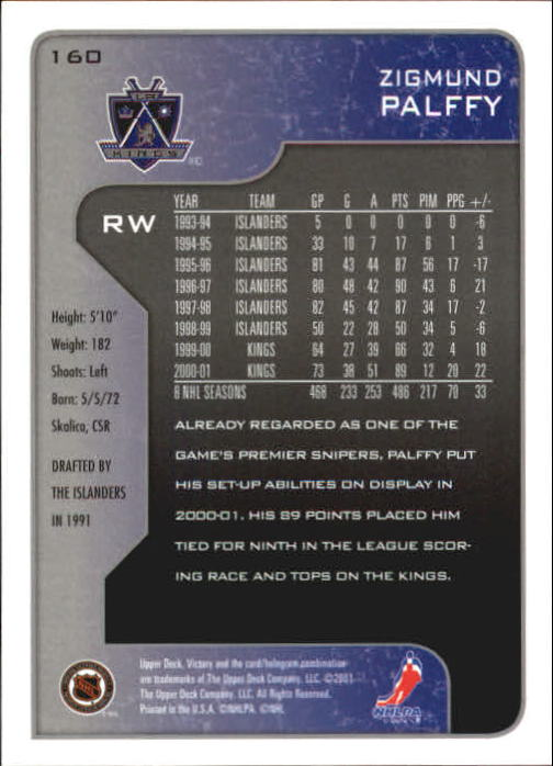 2001-02-Upper-Deck-Victory-Hk-Cards-1-250-A5960-You-Pick-10-FREE-SHIP miniature 307