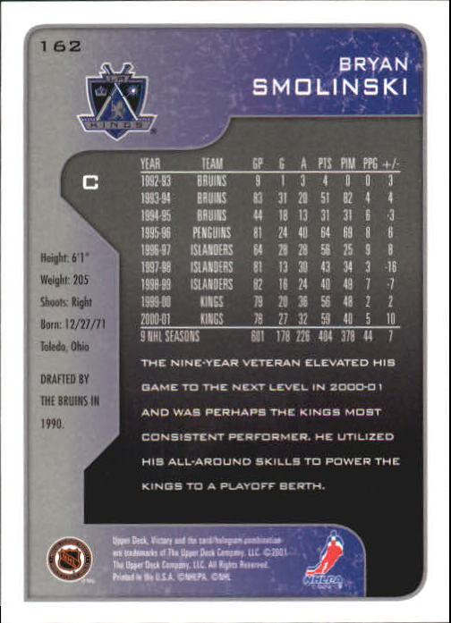 2001-02-Upper-Deck-Victory-Hk-Cards-1-250-A5960-You-Pick-10-FREE-SHIP miniature 311