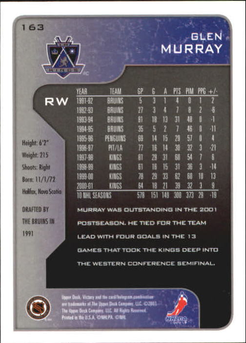 2001-02-Upper-Deck-Victory-Hk-Cards-1-250-A5960-You-Pick-10-FREE-SHIP miniature 313