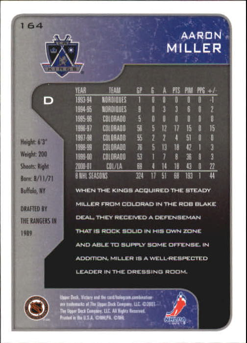 2001-02-Upper-Deck-Victory-Hk-Cards-1-250-A5960-You-Pick-10-FREE-SHIP miniature 315
