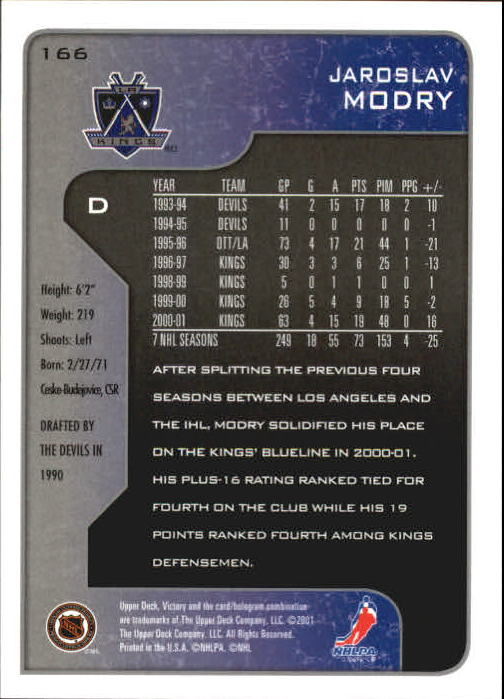 2001-02-Upper-Deck-Victory-Hk-Cards-1-250-A5960-You-Pick-10-FREE-SHIP miniature 319
