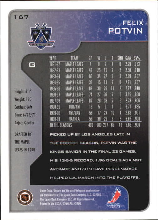 2001-02-Upper-Deck-Victory-Hk-Cards-1-250-A5960-You-Pick-10-FREE-SHIP miniature 321