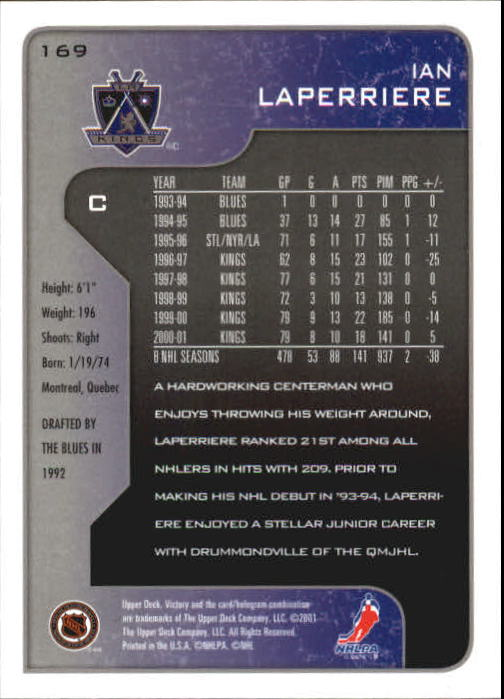 2001-02-Upper-Deck-Victory-Hk-Cards-1-250-A5960-You-Pick-10-FREE-SHIP miniature 325