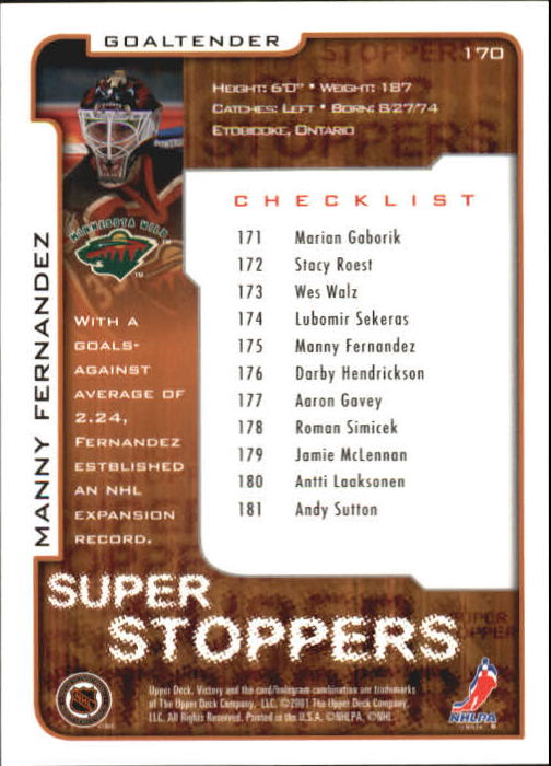 2001-02-Upper-Deck-Victory-Hk-Cards-1-250-A5960-You-Pick-10-FREE-SHIP miniature 327