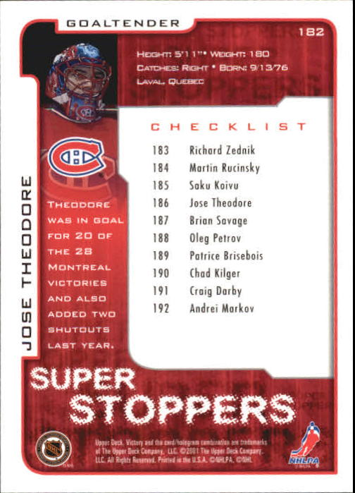 2001-02-Upper-Deck-Victory-Hk-Cards-1-250-A5960-You-Pick-10-FREE-SHIP miniature 347
