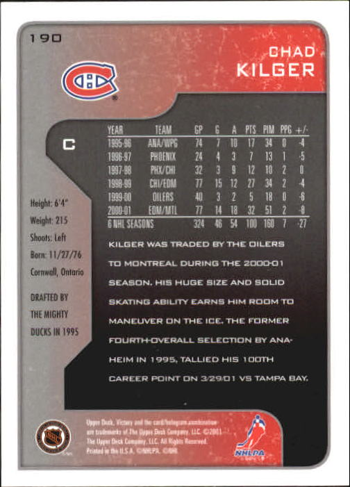 2001-02-Upper-Deck-Victory-Hk-Cards-1-250-A5960-You-Pick-10-FREE-SHIP miniature 363
