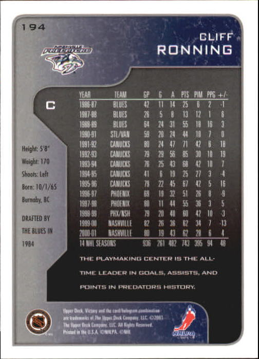 2001-02-Upper-Deck-Victory-Hk-Cards-1-250-A5960-You-Pick-10-FREE-SHIP miniature 371