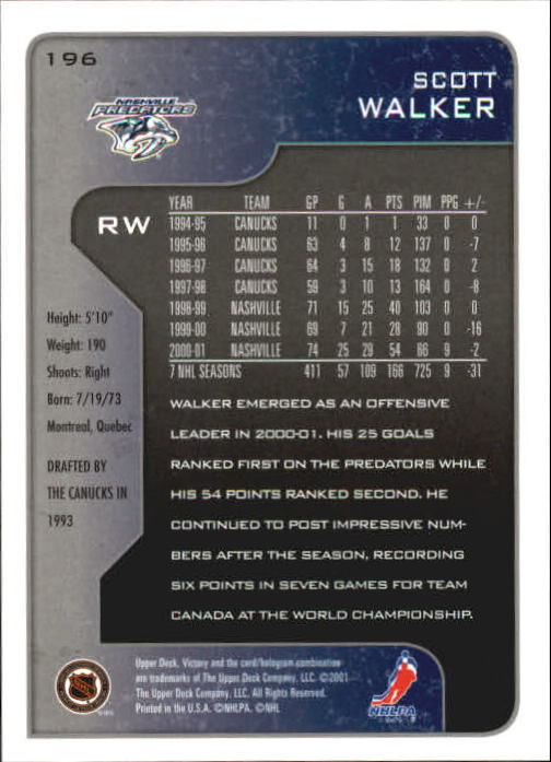 2001-02-Upper-Deck-Victory-Hk-Cards-1-250-A5960-You-Pick-10-FREE-SHIP miniature 375