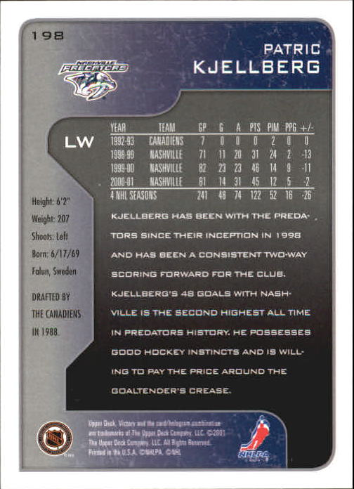 2001-02-Upper-Deck-Victory-Hk-Cards-1-250-A5960-You-Pick-10-FREE-SHIP miniature 379