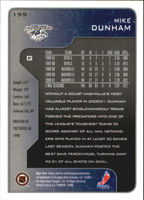 2001-02-Upper-Deck-Victory-Hk-Cards-1-250-A5960-You-Pick-10-FREE-SHIP miniature 381