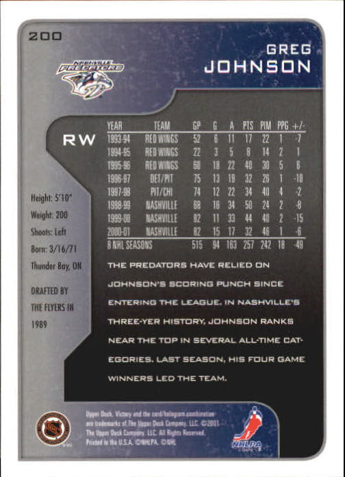 2001-02-Upper-Deck-Victory-Hk-Cards-1-250-A5960-You-Pick-10-FREE-SHIP miniature 383