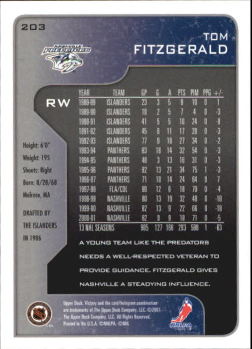 2001-02-Upper-Deck-Victory-Hk-Cards-1-250-A5960-You-Pick-10-FREE-SHIP miniature 389