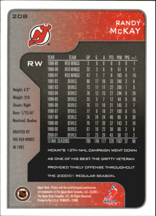 2001-02-Upper-Deck-Victory-Hk-Cards-1-250-A5960-You-Pick-10-FREE-SHIP miniature 399