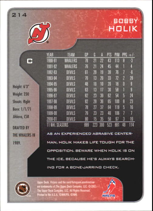 2001-02-Upper-Deck-Victory-Hk-Cards-1-250-A5960-You-Pick-10-FREE-SHIP miniature 411