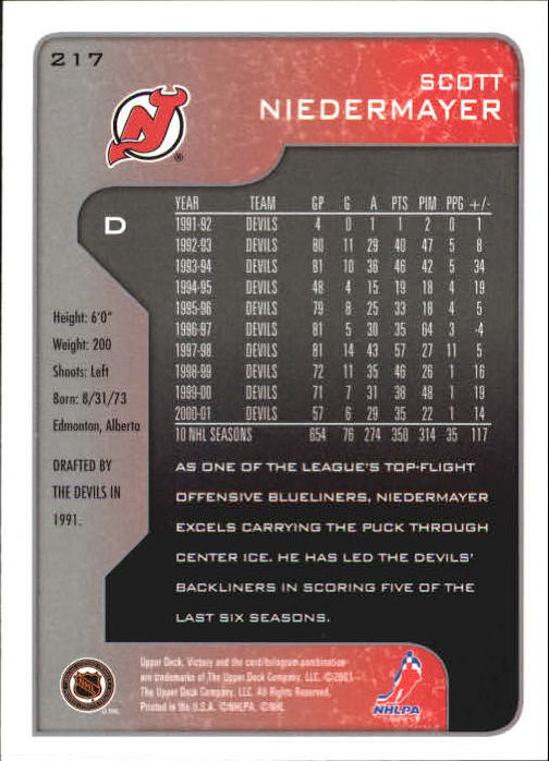 2001-02-Upper-Deck-Victory-Hk-Cards-1-250-A5960-You-Pick-10-FREE-SHIP miniature 417