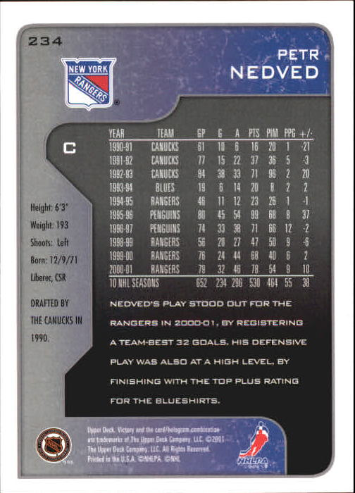 2001-02-Upper-Deck-Victory-Hk-Cards-1-250-A5960-You-Pick-10-FREE-SHIP miniature 451
