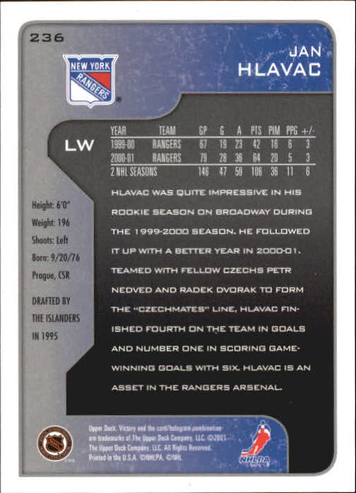 2001-02-Upper-Deck-Victory-Hk-Cards-1-250-A5960-You-Pick-10-FREE-SHIP miniature 455
