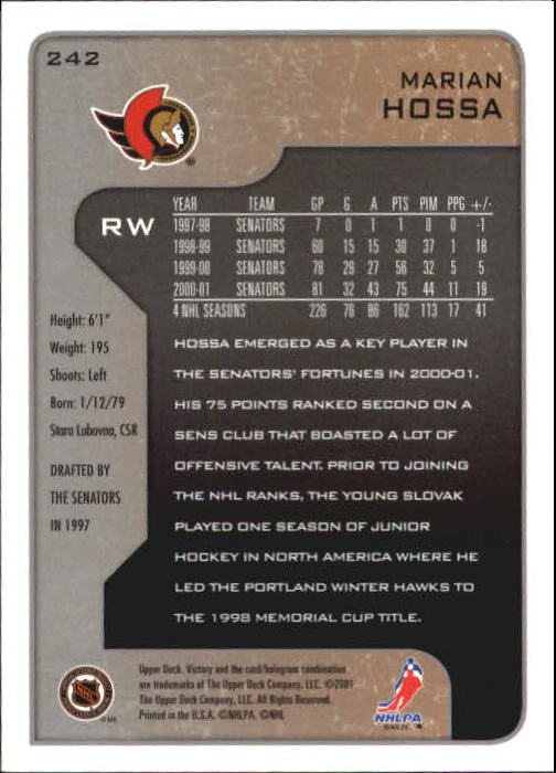 2001-02-Upper-Deck-Victory-Hk-Cards-1-250-A5960-You-Pick-10-FREE-SHIP miniature 465