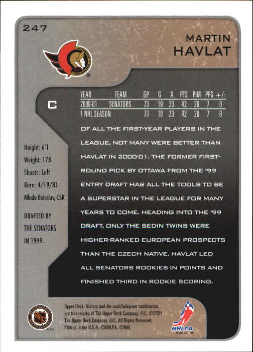 2001-02-Upper-Deck-Victory-Hk-Cards-1-250-A5960-You-Pick-10-FREE-SHIP miniature 475