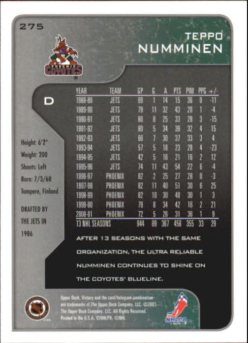 2001-02-Upper-Deck-Victory-Hk-Cards-251-440-A5960-You-Pick-10-FREE-SHIP miniature 51