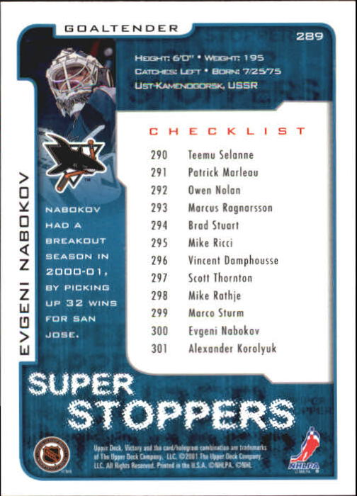 2001-02-Upper-Deck-Victory-Hk-Cards-251-440-A5960-You-Pick-10-FREE-SHIP miniature 79