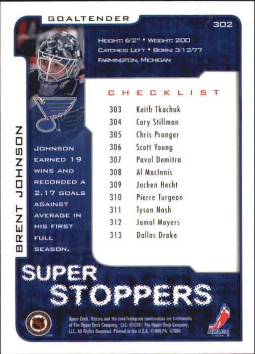 2001-02-Upper-Deck-Victory-Hk-Cards-251-440-A5960-You-Pick-10-FREE-SHIP miniature 105