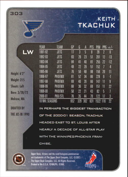 2001-02-Upper-Deck-Victory-Hk-Cards-251-440-A5960-You-Pick-10-FREE-SHIP miniature 107