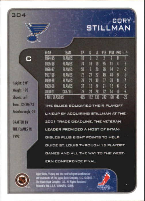 2001-02-Upper-Deck-Victory-Hk-Cards-251-440-A5960-You-Pick-10-FREE-SHIP miniature 109