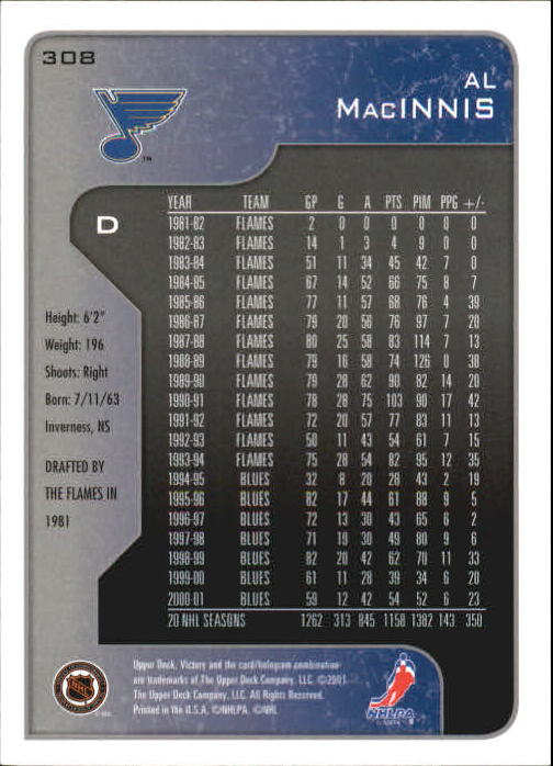 2001-02-Upper-Deck-Victory-Hk-Cards-251-440-A5960-You-Pick-10-FREE-SHIP miniature 117