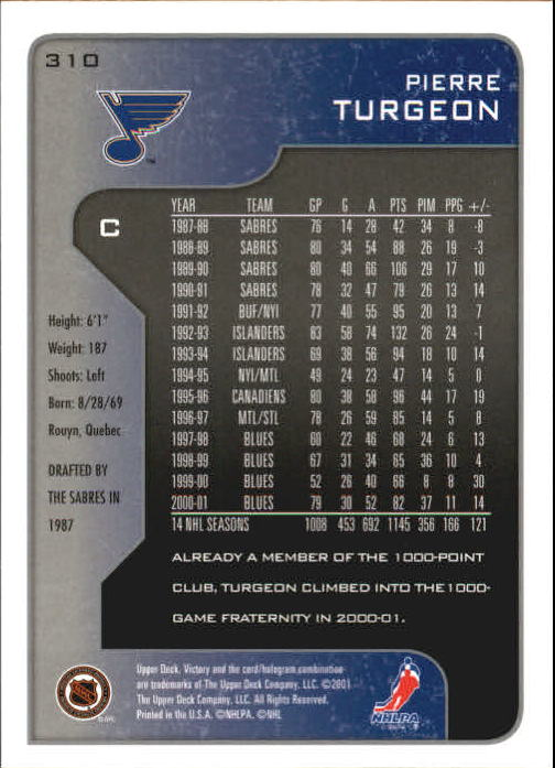 2001-02-Upper-Deck-Victory-Hk-Cards-251-440-A5960-You-Pick-10-FREE-SHIP miniature 121