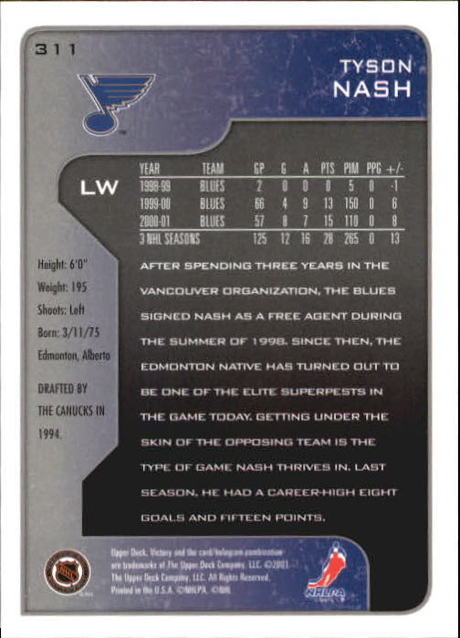 2001-02-Upper-Deck-Victory-Hk-Cards-251-440-A5960-You-Pick-10-FREE-SHIP miniature 123