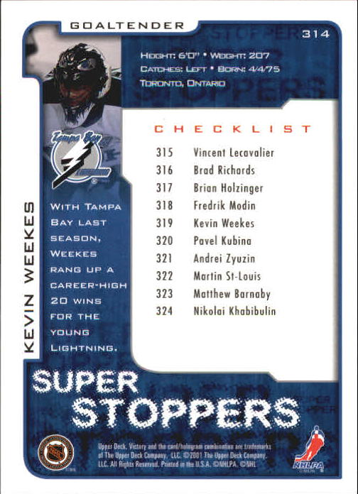 2001-02-Upper-Deck-Victory-Hk-Cards-251-440-A5960-You-Pick-10-FREE-SHIP miniature 129